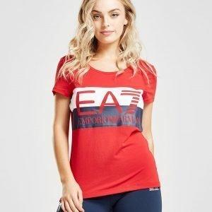 Emporio Armani Ea7 Logo Stripe T-Shirt Punainen