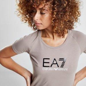Emporio Armani Ea7 Logo T-Paita Ruskea