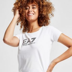Emporio Armani Ea7 Logo T-Paita Valkoinen