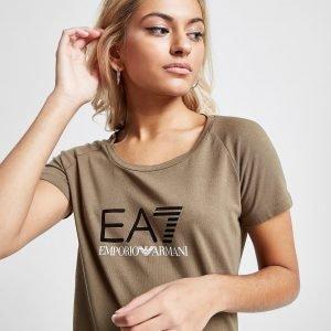 Emporio Armani Ea7 Logo T-Shirt Ruskea