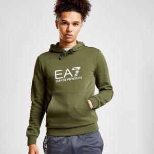 Emporio Armani Ea7 Overhead Logo Hoodie Khaki