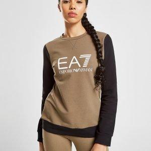 Emporio Armani Ea7 Raglan Crew Sweatshirt Khaki / Black