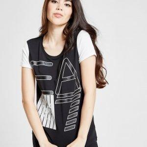 Emporio Armani Ea7 Raglan T-Shirt Musta