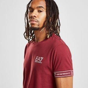 Emporio Armani Ea7 Short Sleeve Tape T-Shirt Punainen