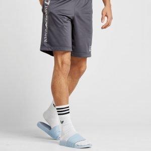 Emporio Armani Ea7 Side Logo Poly Shorts Harmaa