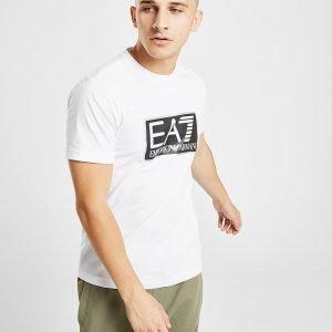Emporio Armani Ea7 Visibility Logo Short Sleeve T-Paita Valkoinen