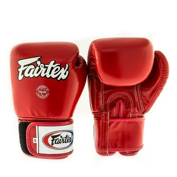 Fairtex BGV1 Classic Universal Muay Thai Glove Red 10 oz