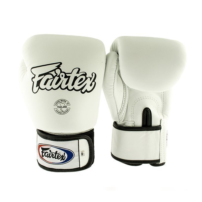 Fairtex BGV1 Classic Universal Muay Thai Glove White 12 oz