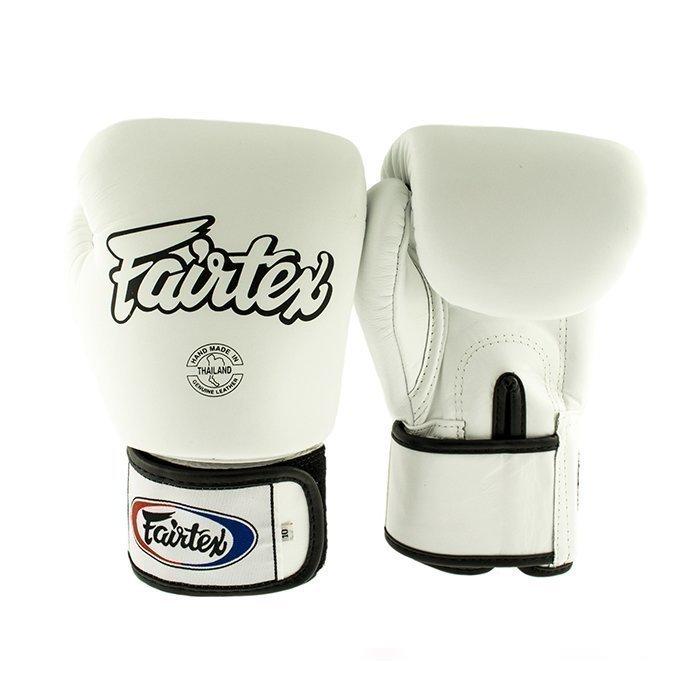 Fairtex BGV1 Classic Universal Muay Thai Glove White 14 oz
