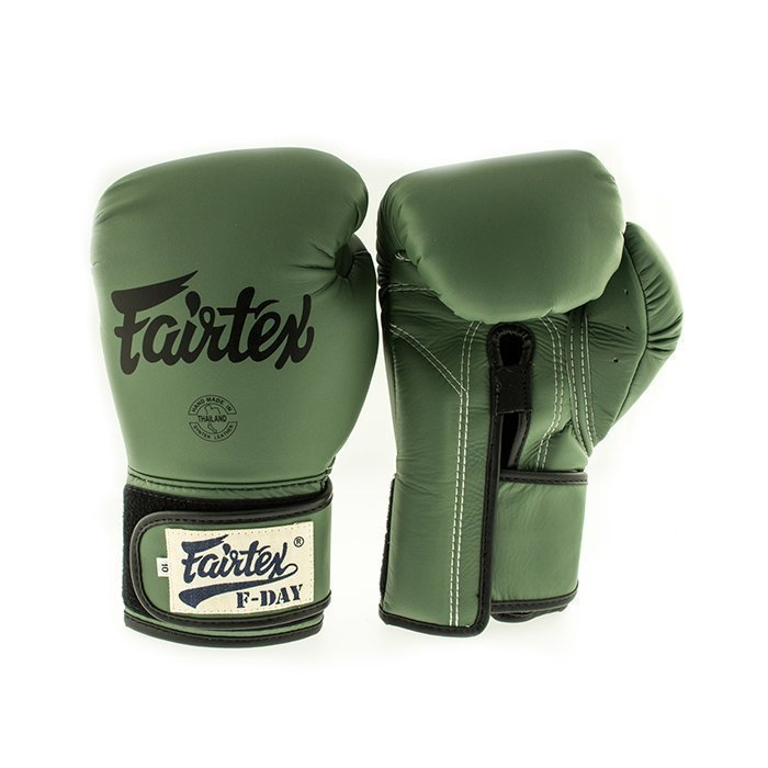 Fairtex BGV11 F-Day Boxing Glove Green 10 Oz + Dog-tag
