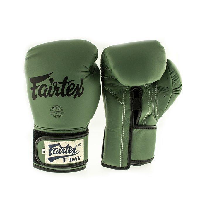 Fairtex BGV11 F-Day Boxing Glove Green 10 Oz + Dog-tag
