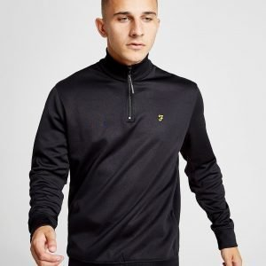 Farah 1/4 Zip Fleece Track Top Musta
