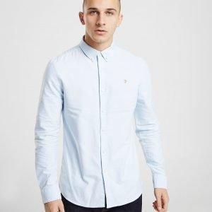 Farah Brewer Long Sleeve Oxford Shirt Sininen