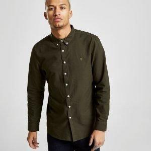 Farah Brewer Long Sleeve Shirt Vihreä