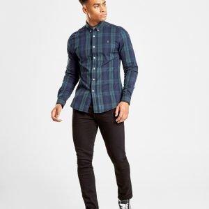 Farah Brewer Oxford Long Sleeved Shirt Sininen