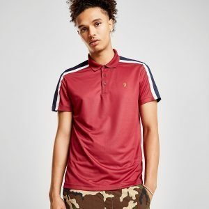 Farah Colour Block Polo Shirt Punainen