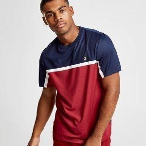 Farah Colour Block T-Shirt Punainen