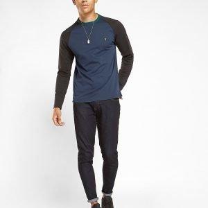 Farah Long Sleeve Raglan T-Shirt Tummansininen