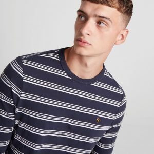 Farah Long Sleeve Stripe T-Shirt Sininen