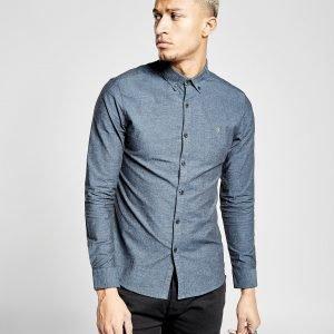 Farah Steen Long Sleeve Shirt Sininen