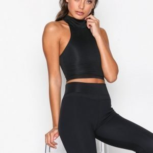Fashionablefit Reversible Gym Top Treenitoppi Tight Fit Musta