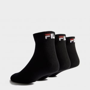 Fila 3-Pack Quarter Sport Socks Musta
