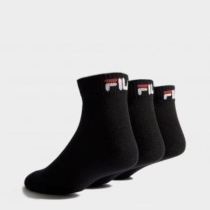 Fila 3-Pack Quarter Sport Socks Musta