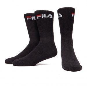 Fila 3pack Crew Sport Socks Musta