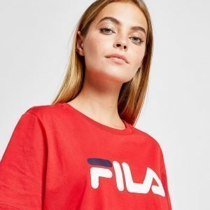 Fila Crop Logo T-Paita Punainen