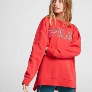 Fila Logo Popper Crew Sweatshirt Punainen