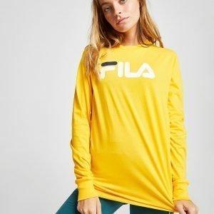 Fila Long Sleeve Boyfriend T-Paita Keltainen