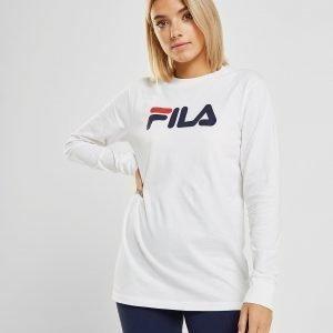 Fila Long Sleeve Boyfriend T-Paita Valkoinen