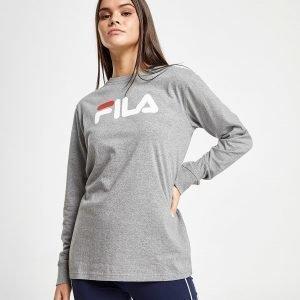 Fila Long Sleeve Boyfriend T-Shirt Harmaa