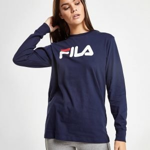 Fila Long Sleeve Boyfriend T-Shirt Laivastonsininen