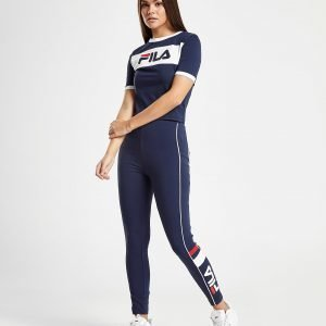 Fila Panel Crop T-Shirt Laivastonsininen