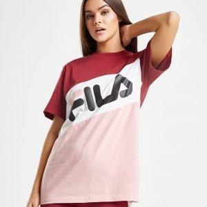 Fila Panel Logo T-Shirt Vaaleanpunainen