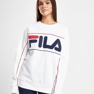 Fila Piping Logo Crew Sweatshirt Valkoinen