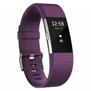 Fitbit Charge 2 Aktiivisuusranneke Plum Large
