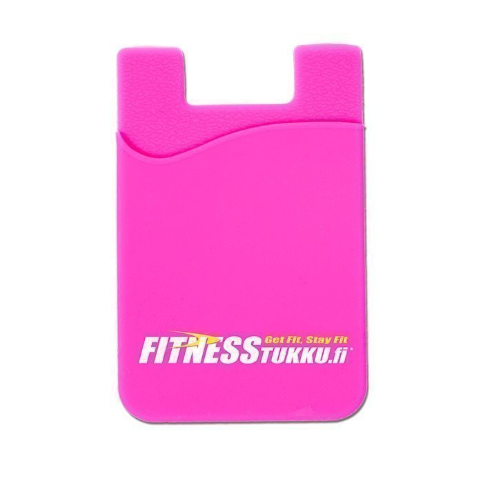 Fitnesstukku Silicone Card Holder Pink