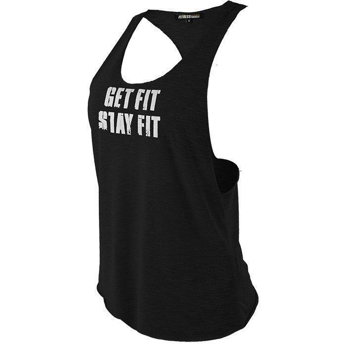Fitnesstukku Tank top Loose Fit Black XL