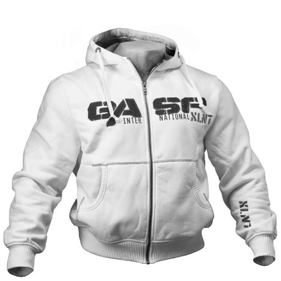 GASP 12Ibs Hoody White L Valkoinen