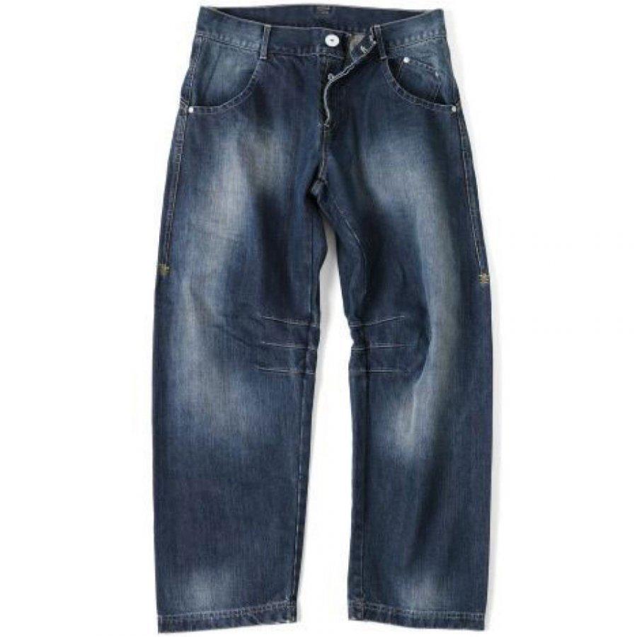 GASP Baggy Denim Jeans Black S Musta