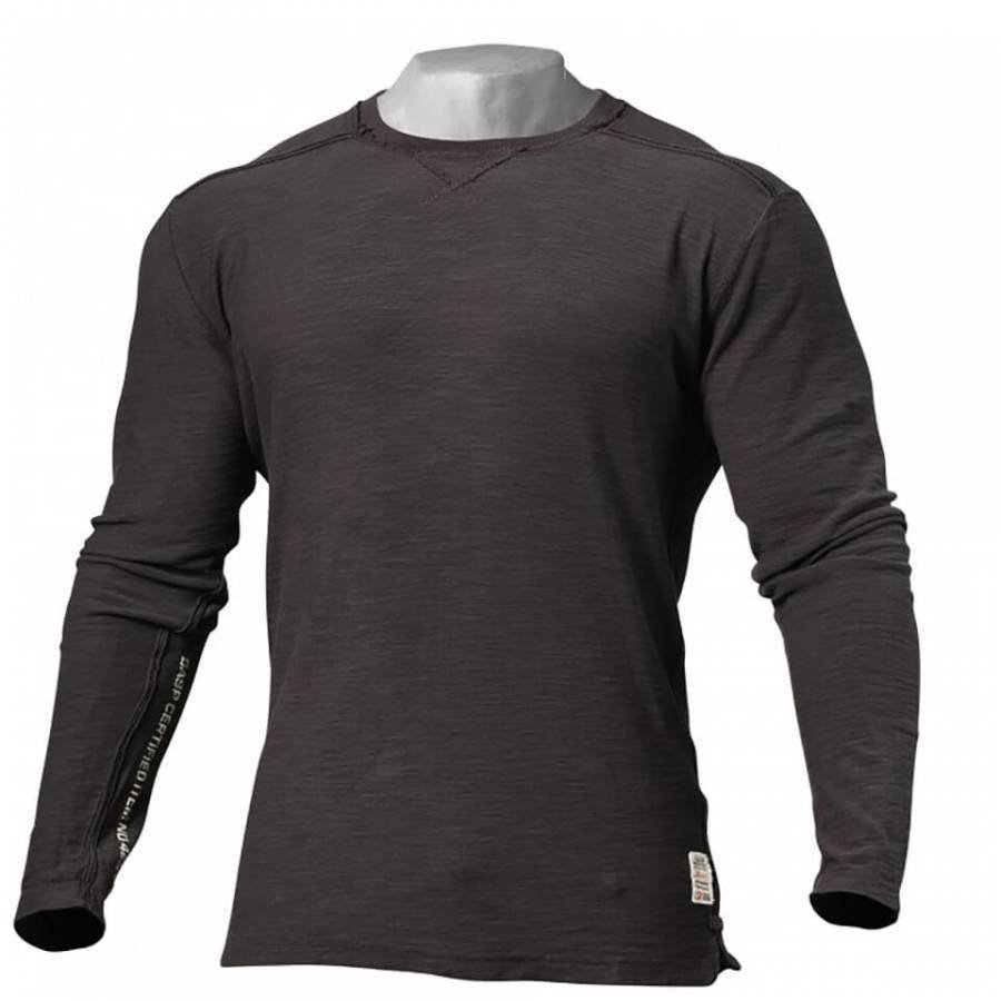 GASP Broad Street Long Sleeve Sweatshirt Dark Grey M Harmaa