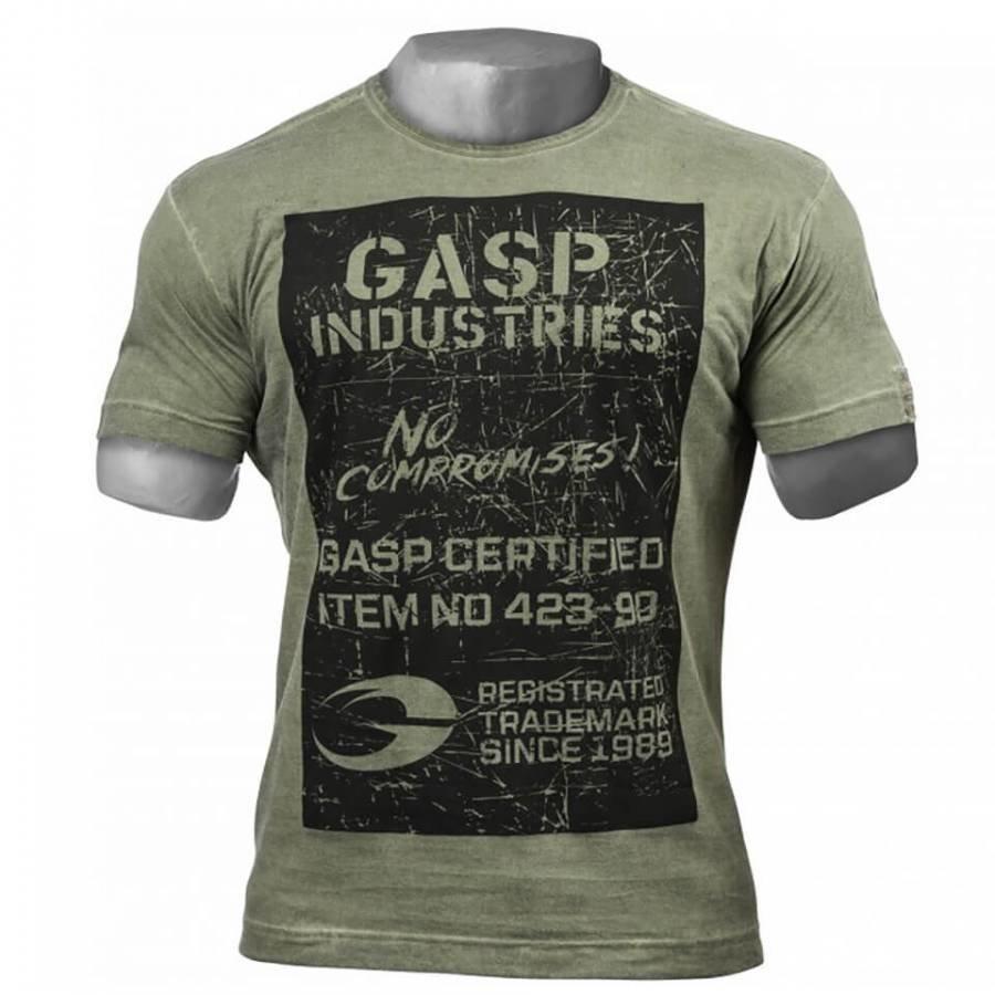 GASP Broad Street Print T-Shirt Wash Green L Vihreä
