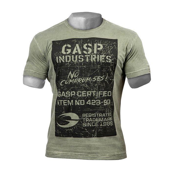 GASP Broad str. print tee Wash Green