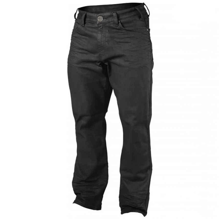 GASP Broadstreet Denim Trousers oil Black W32 Musta