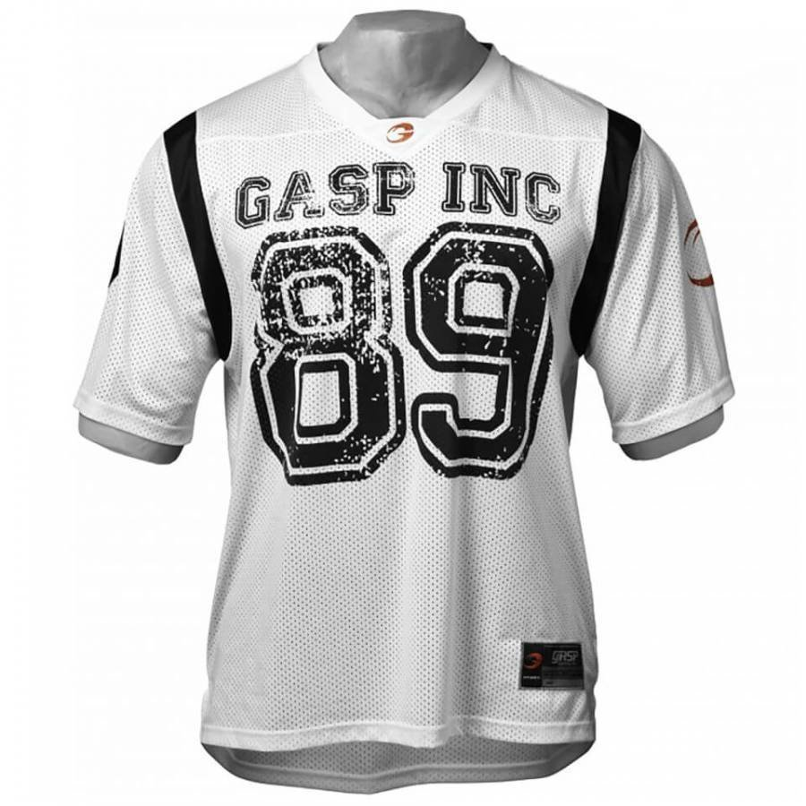 GASP Football Jersey White L Valkoinen