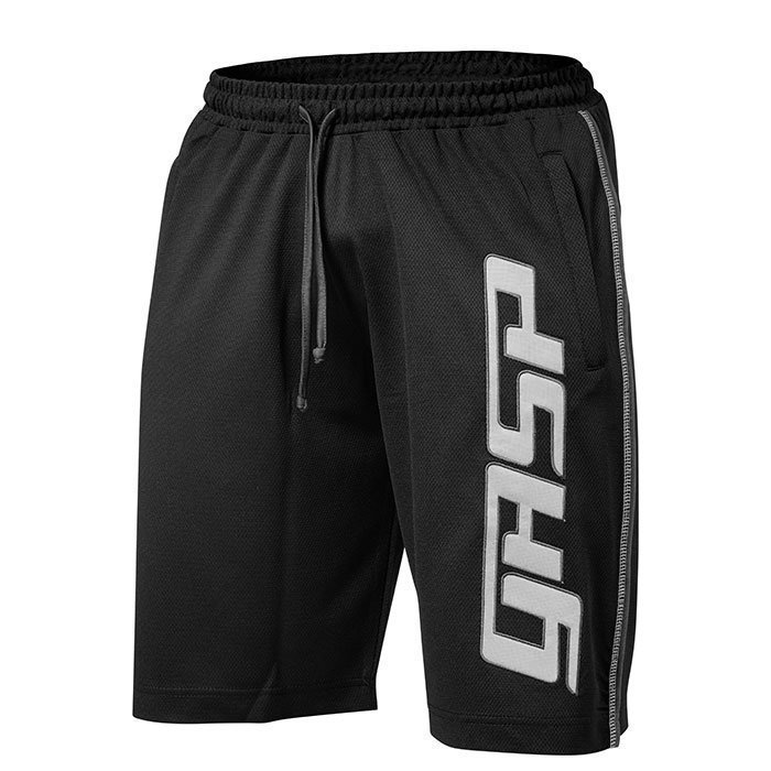 GASP GG Mesh logo Shorts Black Large