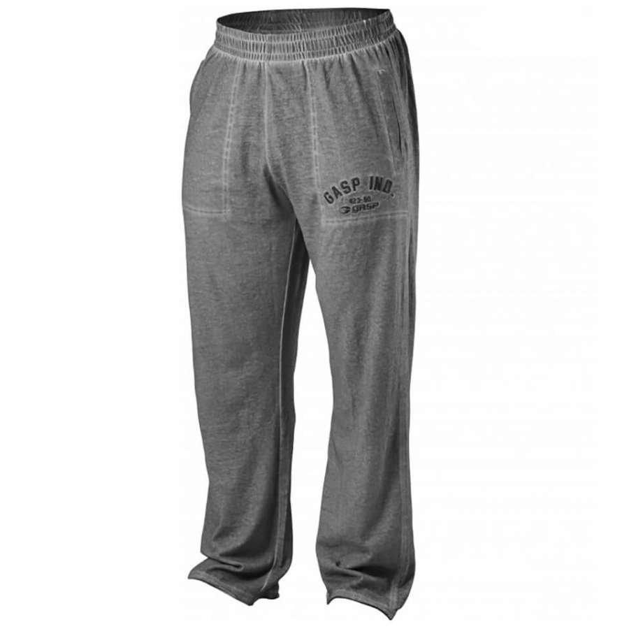 GASP Heritage Pants Grey Melange L Harmaa