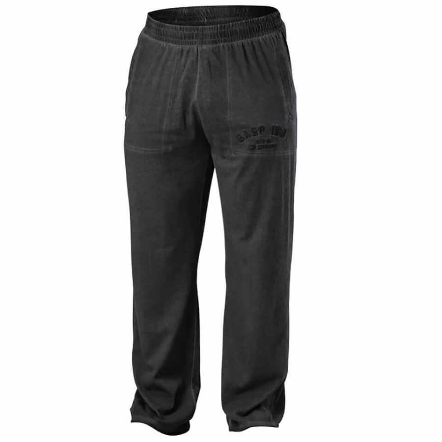 GASP Heritage Pants Wash Black S Musta